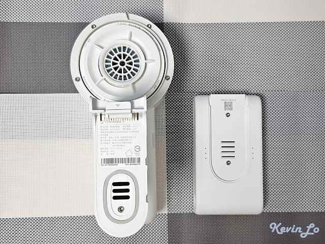 【MI 小米】米家無線吸塵器 G9 (白色) 開箱_主機與電池組的通風口