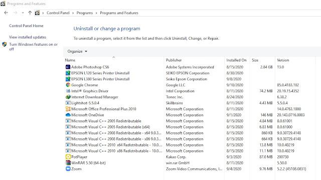 Banyak Program tidak berguna terinstal di laptop