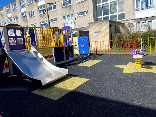 Monksgrove playground on Oakwood Estate good for preschoolers