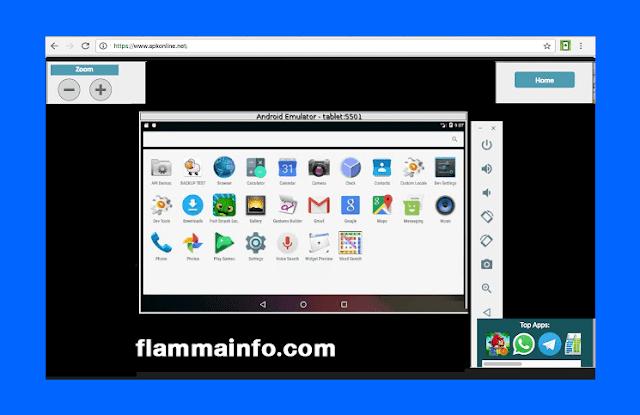 موقع لتشغيل تطبيقات الأندرويد أون لاين بدون برامج
