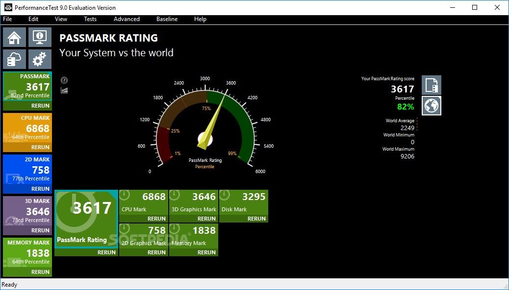 تحميل برنامج PassMark PerformanceTest 10.0 لاختبار وقياس أداء الكمبيوتر