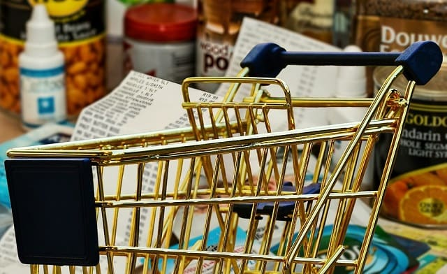 grocery store shopping frugal food budget bootstrap business blog