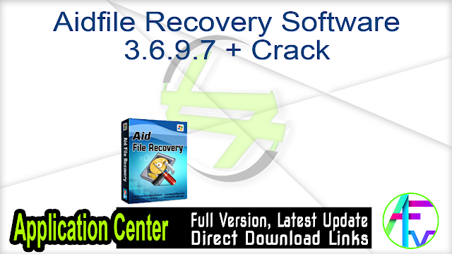 Aidfile Recovery Software 3.6.9.7 + Crack