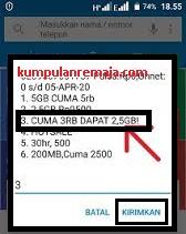 Daftar Paket Promo tri (3) 2.5 GB Harga 3000 Harian