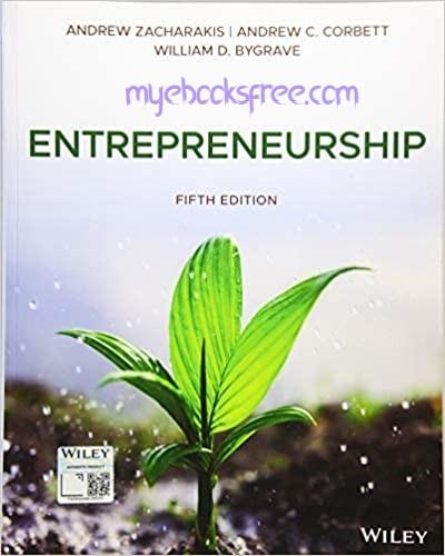 Entrepreneurship Pdf Book 5e by Zacharakis, Corbett, Bygrave