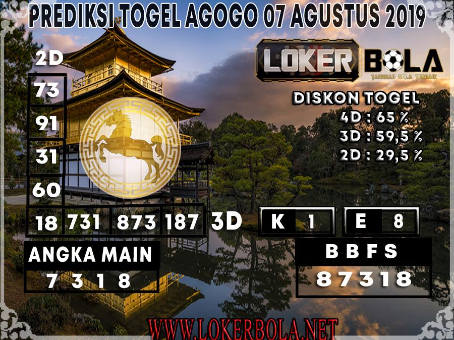 PREDIKSI JITU AGOGO LOKERBOLA 07 AGUSTUS 2019