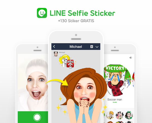 LINE Luncurkan 'LINE Selfie Sticker'