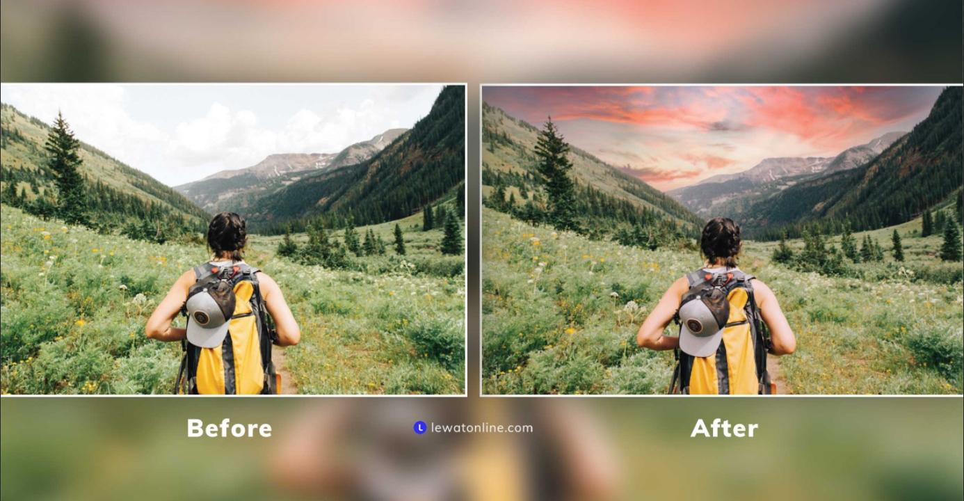 Cara Mengganti Awan di Photoshop Terbaru 2021