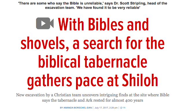 'There are some who say the Bible is unreliable,' says Dr. Scott Stripling, head of the excavation team. 'We have found it to be very reliable' With Bibles and shovels, a search for the biblical tabernacle gathers pace at ShilohNew excavation by a Christian team uncovers intriguing finds at the site where Bible says the tabernacle and Ark rested for almost 400 years.