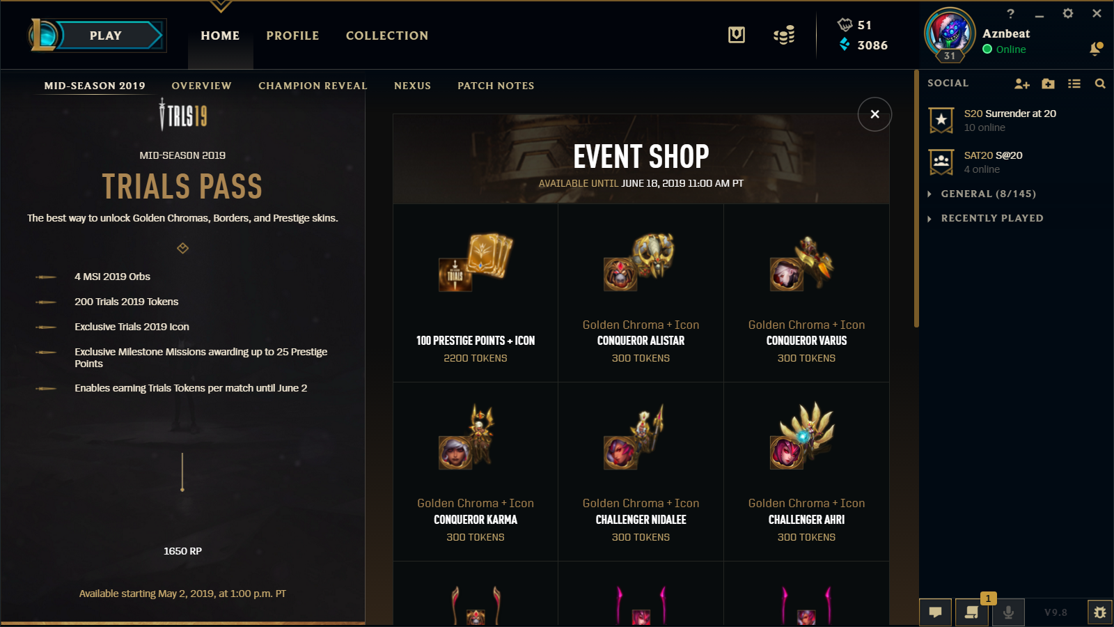 The new trials pass costs 1650 RP instead of the usual 1350