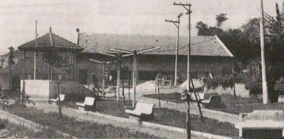 Foto 3: Coreto de Taipas nos anos 1960 (no canto esquerdo). Foto: acervo Associação Cantareira