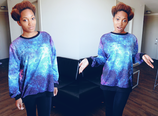 OOTD: Am I Late with the Galaxy Print Trend?