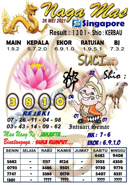 Syair Naga Mas SGP Rabu 26 Mei 2021