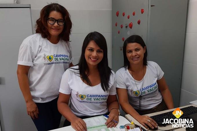 Postos de saúde de Jacobina têm grande movimento no 'Dia D' contra o sarampo