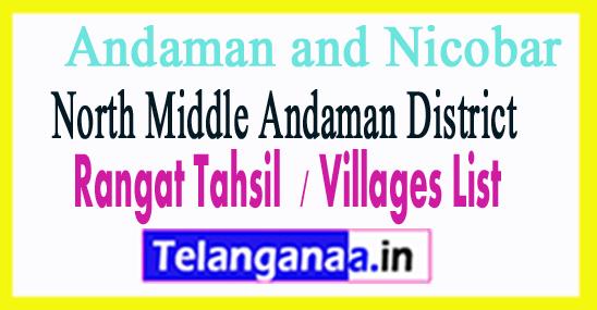 Rangat Tahsil Villages Codes  North Middle Andaman District Andaman and Nicobar Islands State