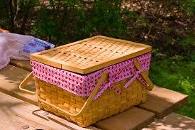 picnic basket, picnic food