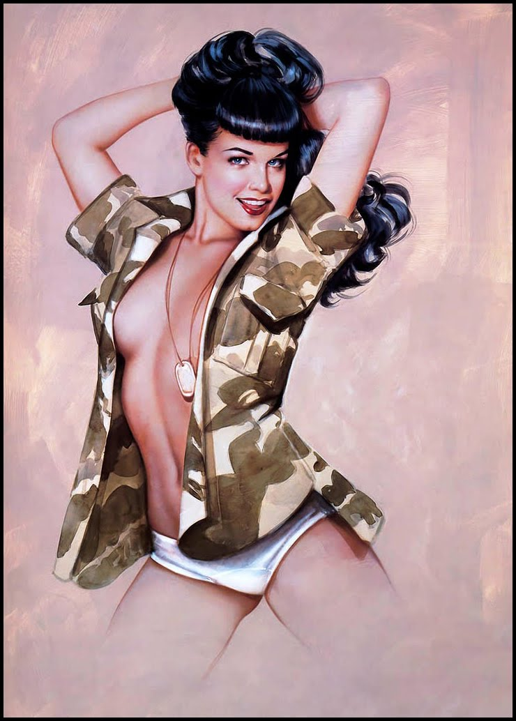 Nude army pin up the answer