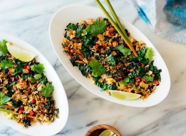 Vegan Fried Rice #dinner #vegetarian
