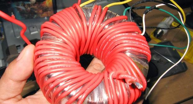 Transformator (Trafo), Cara menurunkan teganggan trafo toroid 23 ke 12 volt DC