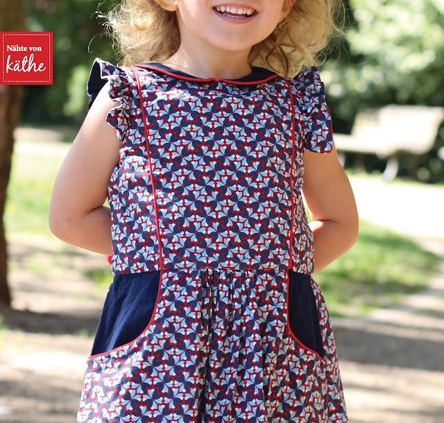 Tic Tac Toe Dress von SewPony, erhältlich bei Nähconnection, aus Happy Flowers Kollektion von Lila-Lotta