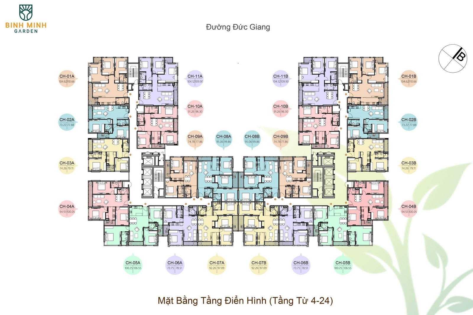 Thiết kế chung cư Bình Minh Garden!