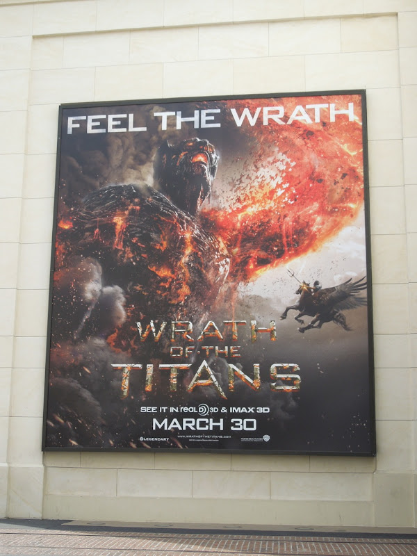 Wrath of the Titans movie billboard