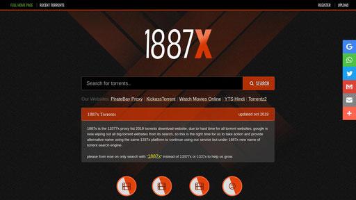 1887x Torrent Search Engine 13377x Proxy