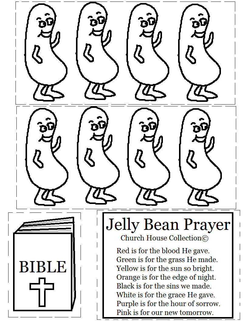 Jelly Bean Prayer Cutout Activity For Kids I Made Two Diffe Templates You To Print Out Just Pick The One Want And It
