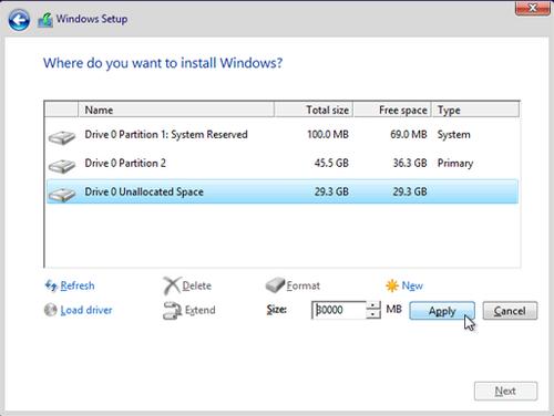 Cara membuat partisi windows saat proeses installasi 4