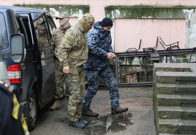 Η Ουκρανία καταγγέλει τη Ρωσία για «παράνομη» κράτηση των ναυτών της