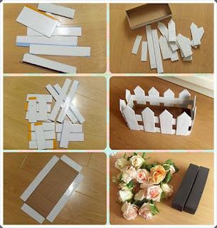 Karton Kutudan Saksı Sepet Yapımı, Resimli Açıklamalı 1