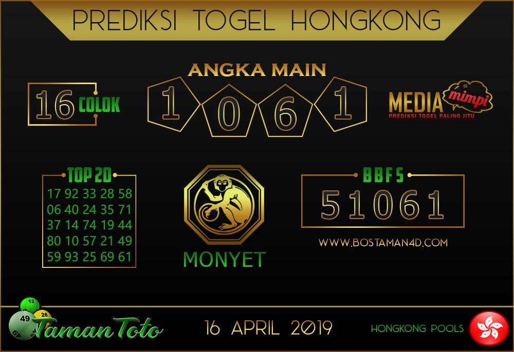 Prediksi Togel HONGKONG TAMAN TOTO 16 APRIL 2019