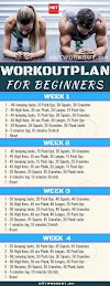 4 Week Workout Plan For Beginners Men And Women