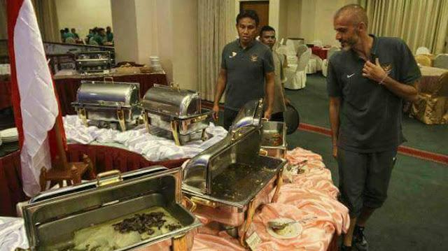 Foto Timnas Indonesia Kehabisan Makanan di Hotel Malaysia Beredar Viral