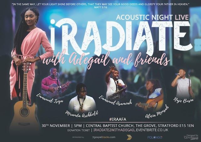 [Event] iRADIATE: Acoustic Night - by Adegail and friends | 30th Nov , 2019