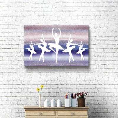 Bestselling watercolor painting Dancing by  artist Irina Sztukowski