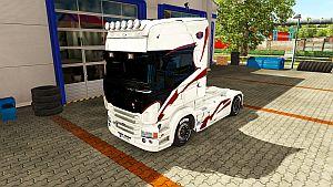 Black Mask skin for Scania RJL (EviL)