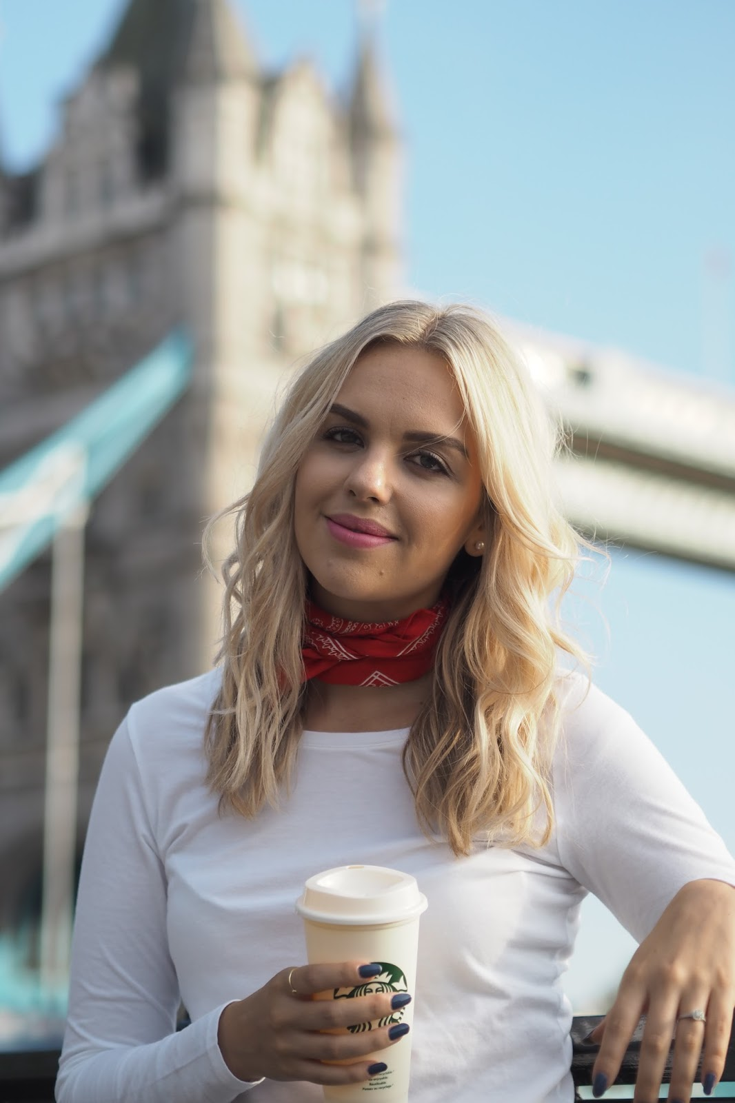 casual basics, patch jeans, neckerchief, london blogger