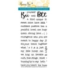 Honey Bee BEE-YOU-TIFUL SENTIMENTS Clear Stamp Set