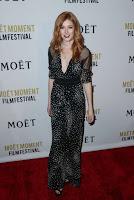 Katherine McNamara silk printed jumpsuit best red carpet dresses photo