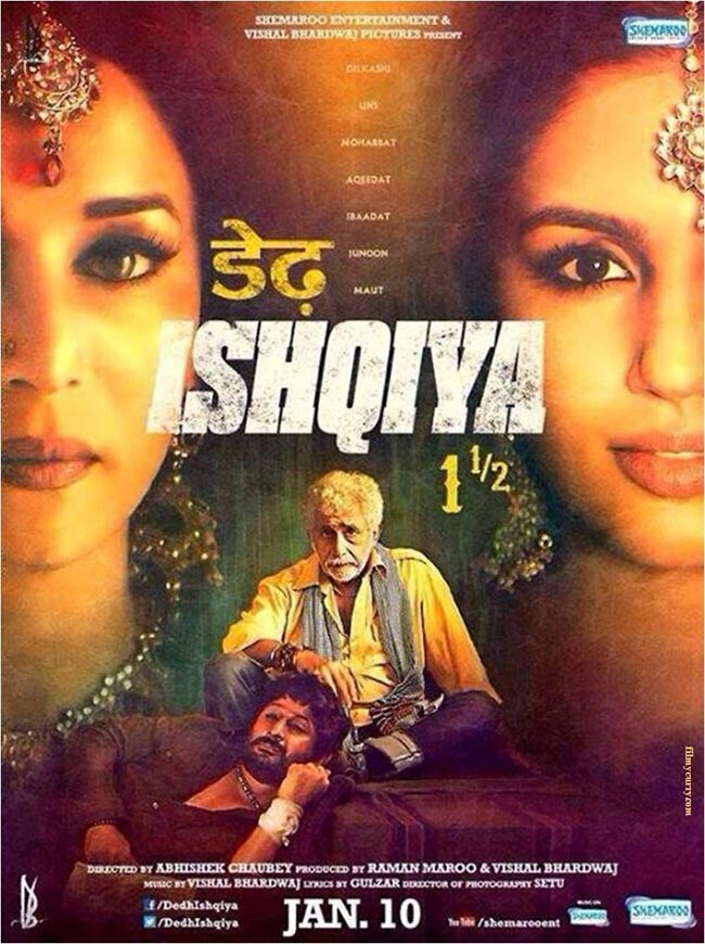 Dedh Ishqiya 2014 Hindi Movie 720p BluRay 1GB ESubs