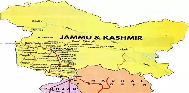 Indian Kashmir Map