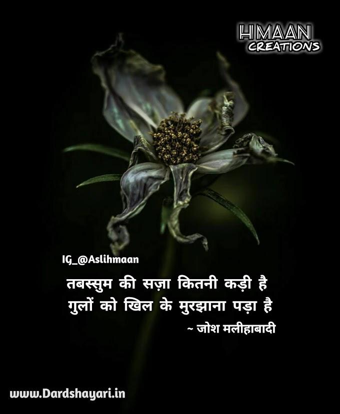 Gulon Ko Khil Ke Murjhana Pada Hai | Sad Hindi Shayari Quotes Images