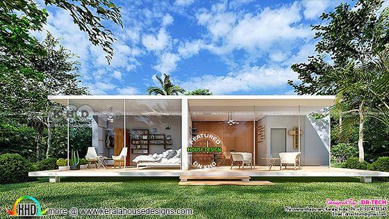 Modern Out House Design at Pattom, Thiruvanathapuram