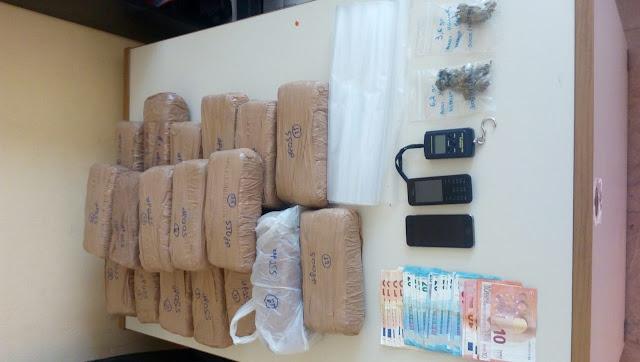 Συνελήφθησαν δύο άτομα με περίπου δέκα κιλά κάνναβης