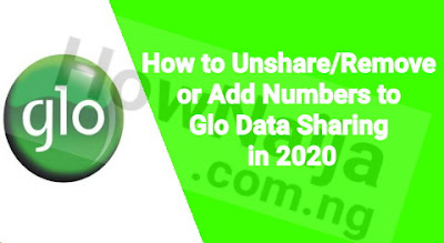 How to Unshare/Remove or Add Numbers to Glo Data Sharing in 2020