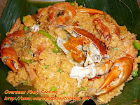 Crabs and Prawns in Aligue Rice, Aligue Bringhe