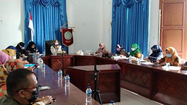 Ketua TP-PKK Natuna Memimpin Pertemuan Terkait Evaluasi Program Kerja Tahun 2021