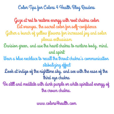 Chakra Colors for Energy and Health