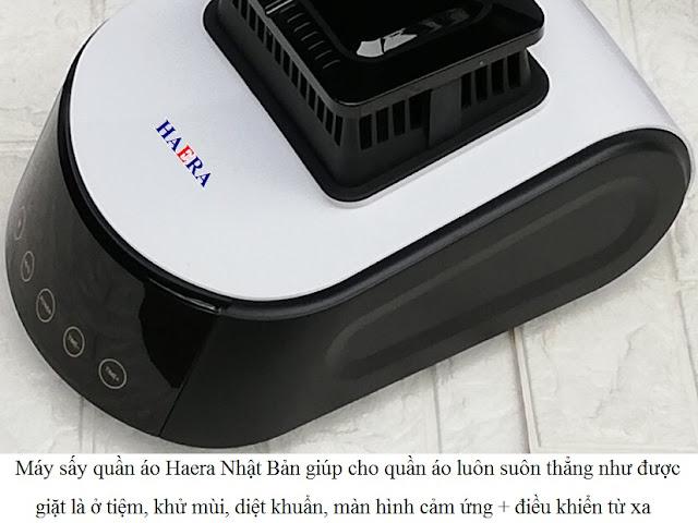 Máy sấy quần áo Haera 858 màn hình cảm ứng + điều khiển từ xa